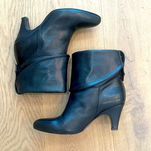 Leather booties by Brown's